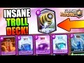 Clash Royale | SPARKY + ALL SPELLS TROLLING LOW ARENA LEVELS! | EPIC LEGENDARY TROLL DECK!