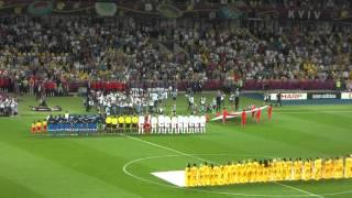Гимн Италии перед четвертьфиналом с Англией