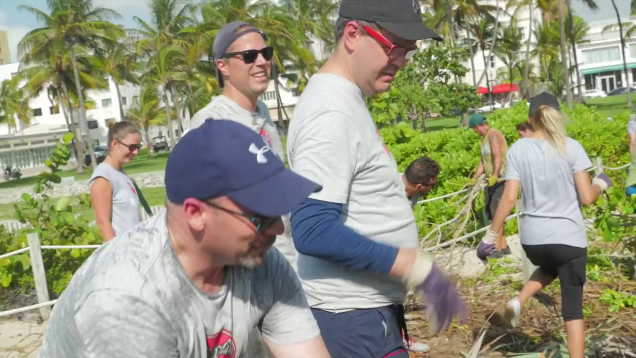Bacardi Employees Team Up with Surfrider Foundation for Beach Dune Restoration