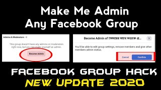 How to make me admin any Group / How to Become Admin Facebook Group