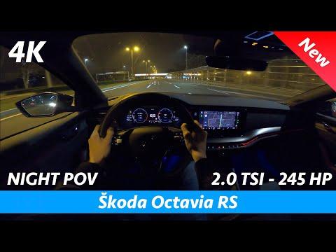 Škoda Octavia RS 2021 - Night POV test drive & FULL review in 4K | Impressive consumption 5.5 l