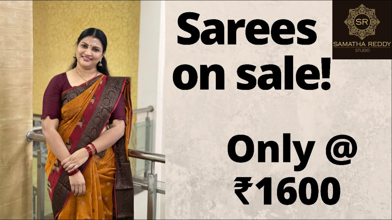 """<p style=""""color: red"""">Video : </p>Sarees on Sale ! 