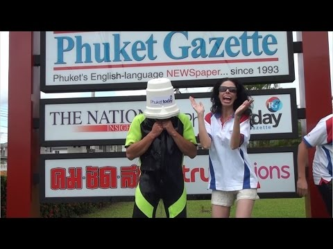 Phuket Gazette takes the ALS Ice Bucket Challenge