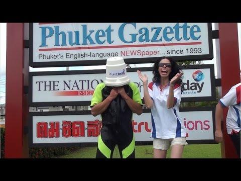 Phuket Gazette takes the ALS Ice Bucket Challenge