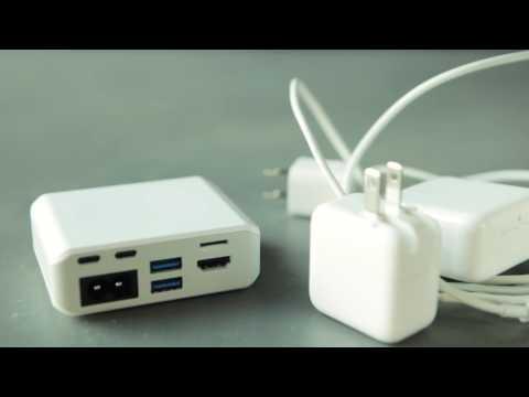 Marble USB-C 3.1 PD Netzladegerät mit integriertem 60 Watt Netzteil und 4K Videoanschluss