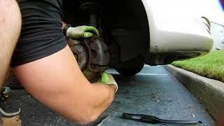 Как поменять шпильки ступицы на переднем колесе (Toyota Camry)