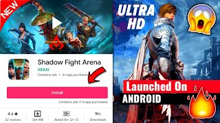 Shadow Fight Arena [NEW Game] Launched For Android - APK+OBB Ultra HD Graphics Gameplay