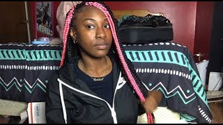 BLACK AND PINK BOX BRAIDS !