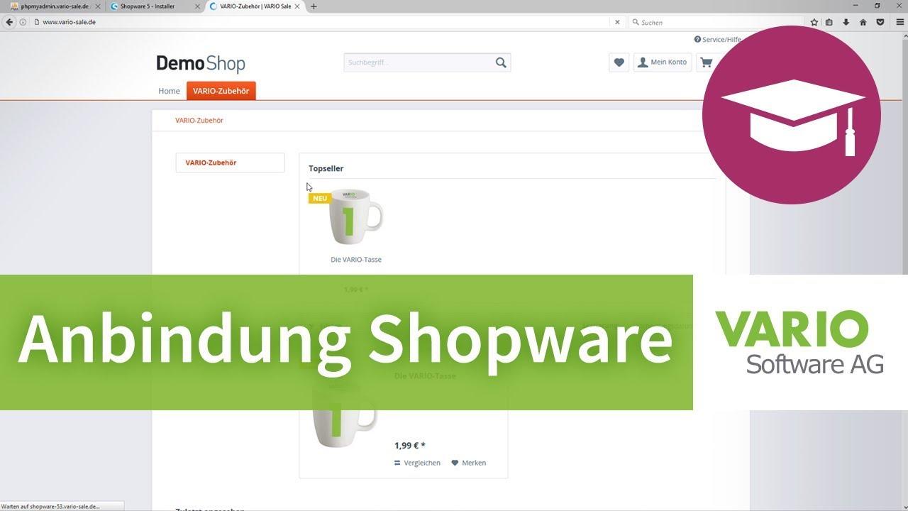 Anbindung eines Shopware-Onlineshops an VARIO 8
