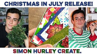 NEW Simon Hurley Create. - Christmas In July! Ink, Stamps, & Stencils