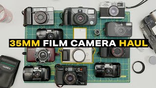 I Thrifted These Film Cameras For $1 | Huge 35MM Film Camera Thrift Haul