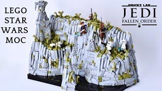 LEGO Star Wars MOC Bogano- Jedi Fallen Order Temple Cliffs, Cal vs stormtroopers, Brickzlab Collab