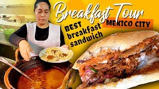 TRADITIONAL Mexican BREAKFAST in Mexico City BEST Breakfast Sandwich With La Ruta de la Garnacha