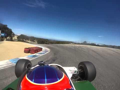 Zak Brown - Williams FW07 lap of Laguna Seca