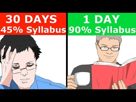 FASTEST WAY TO COVER ENTIRE SYLLABUS |1 DAY/NIGHT BEFORE EXAMS | HOW TO STUDY IN EXAM TIME