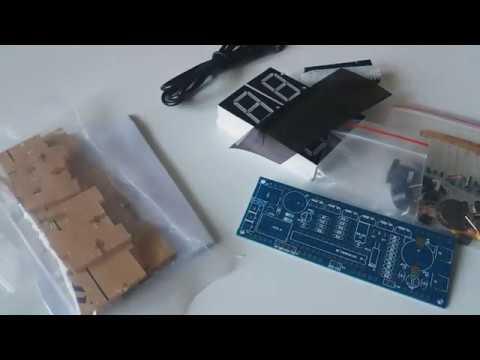 Geekcreit® DIY 4 Digit LED Electronic Clock Kit Temperature Light Control Version from Banggood
