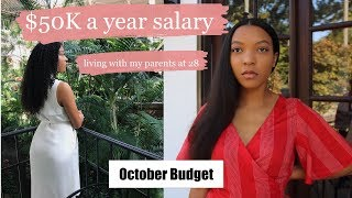 How I Budget My $50K Salary | Saving $25K living at home with my parents at 28