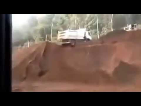 Truck Rolling Off The Cliff