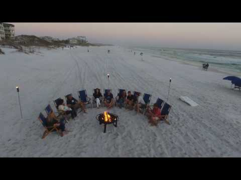 30A Winter Beach Party Aerial Montage