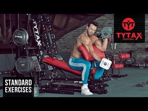 TYTAX® M1 | Seated Alternating Dumbbell Preacher Curl