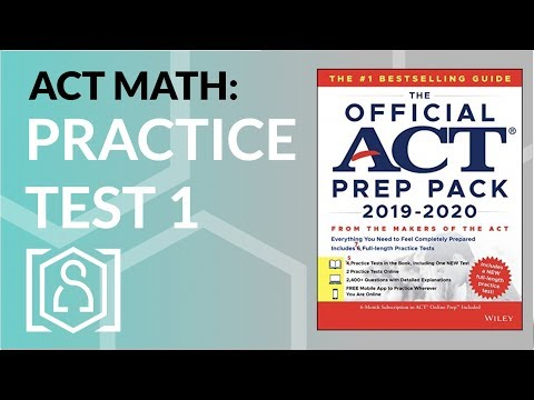 ACT Math - Practice Test 1 from the Official ACT Prep Pack 2019 ...