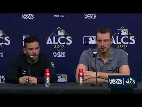 Jose Altuve and Charlie Morton Postgame Interview   Astros vs Yankees Game 6 ALCS