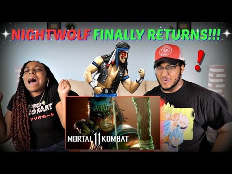 "Mortal Kombat 11 ""Official Nightwolf Gameplay"" Trailer REACTION!!!"