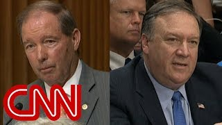 Senator questions Pompeo about Trump's business ties to Russia