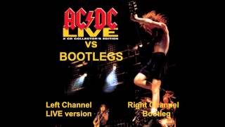 AC/DC LIVE (CD vs Bootlegs) 11 Dirty Deeds Done Dirt Cheap