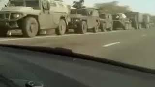Огромная колонна военных на границе Дагестана и Чеченской республики