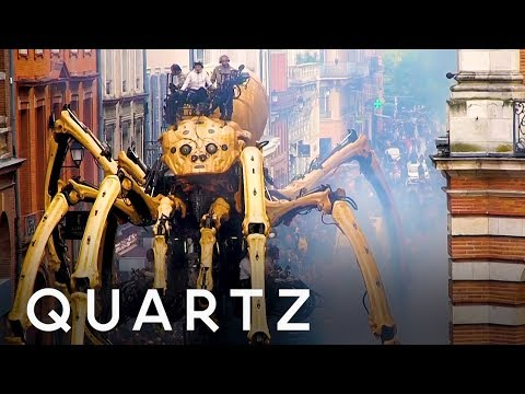 Giant Robot Spiders Take Over France