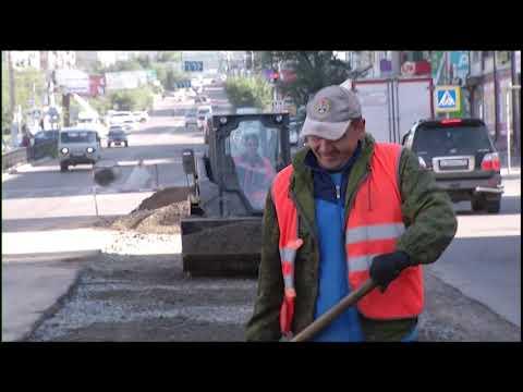 Восстановление дорог после «раскопок» в Чите
