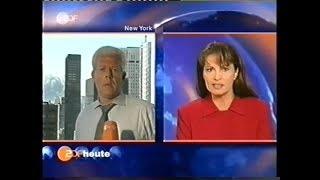 """ZDF Live-Nachrichten """"heute"""" Am 11. September 2001 Von 17:00 Uhr Bis 17:20 Uhr"""