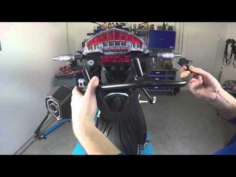 Anbau LED Rücklicht BMW F800R, Installation LED rear light