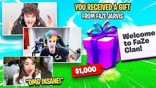 GIFTING SKINS TO POPULAR FORTNITE YOUTUBERS (Jarvis, Ninja, Pokemon's)