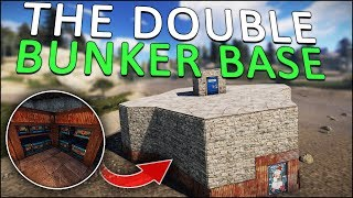 BUILDING the DOUBLE BUNKER BASE! - Rust Solo #2
