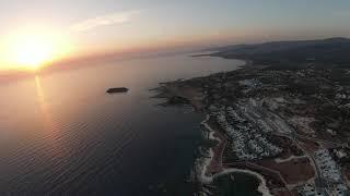 Закат пейя fpv 4K cyprus sunset