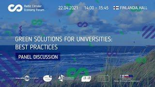 Green solutions for universities: best practices