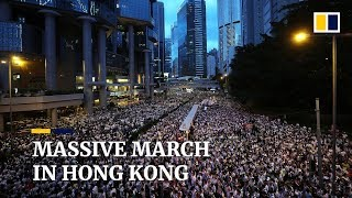 'More Than 1 Million' People Join Historic Hong Kong March Against Extradition Bill
