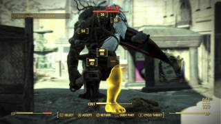 Fallout 4:  battling Swan with artillery support