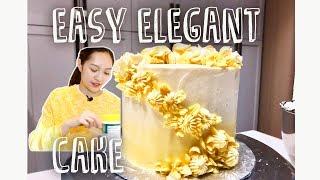 How To Easily Make An Elegant Cake || Ally Bakes