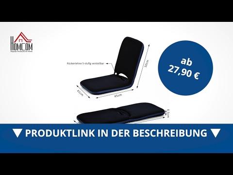 Homcom Sitzkissen Sitzsack Bodenkissen mit Lehne klappbar - direkt kaufen!