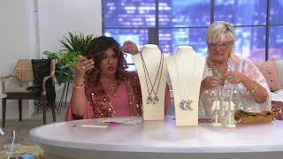 Kirks Folly Forever Free Pendant with/ Beaded Necklace on QVC