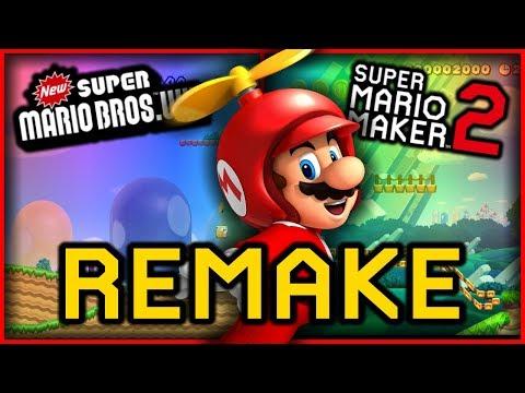 Remaking New Super Mario Bros  Wii 1-1 in Super Mario Maker
