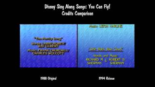 Disney Sing Along Songs You Can Fly! Credits Comparison