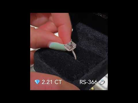 2.21 ct Emerald Cut Diamond Hidden Halo™ Design