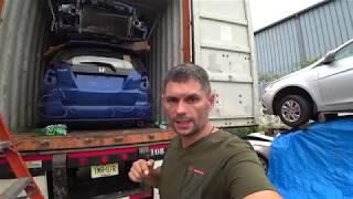 Авто из США от 7motors. Погрузка 6-ти авто в контейнер (Кыргызстан).Смотреть всем!!!.