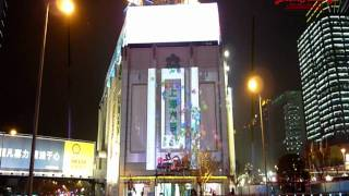 preview picture of video 'Takenaka Beampainting 2010 Jan1-3 shanghai xujiahui'