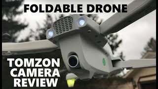 Tomzon D65 CAMERA TEST GPS Drone Foldable FPV RC Quadcopter Follow Me, Carrying Case Flight Review