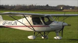 preview picture of video 'landing of  a small plane on a west Lancashire field, north England'